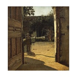 Courtyard in Sun, Interior of Country House, 1864-1866 Giclee Print by Giuseppe De Nittis