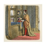 Meeting of Edward IV and Louis XI of France at Pecquigny Reproduction procédé giclée par James William Edmund Doyle