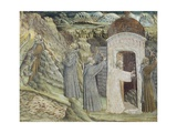 Religious Men Destroying Hut and Breaking Sword Giclée-tryk af Giovanni di Paolo