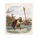 The Roman Standard Bearer of the Tenth Legion Landing in Britain Reproduction procédé giclée par James William Edmund Doyle