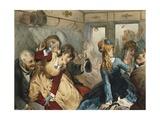 Train of Pleasure, Illustration for Madame Tellier's House Reproduction procédé giclée par Guy De Maupassant