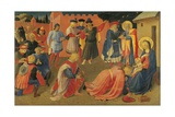 The Adoration of the Magi, Detail from Central Panel of the Predella Reproduction procédé giclée par Giovanni Da Fiesole