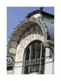 Karlsplatz Underground Station, Designed Between 1894 and 1899 Giclee-trykk av Otto Wagner