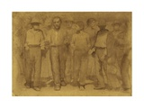 Group of Workers, Study for Fourth State, Circa 1898 Giclee Print by Giuseppe Pellizza da Volpedo