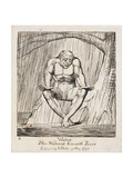 P.438-1985 Water, Thou Waterest Him with Tears, Plate 2 of 'The Gates of Paradise', 1818-25 Reproduction procédé giclée par William Blake