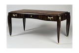 Art Deco Style Writing Desk, Ambassade 25 Model, 1933 Gicléetryck av Jacques-emile Ruhlmann