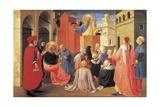 St Peter Preaching the Gospel to St Mark Reproduction procédé giclée par Giovanni Da Fiesole
