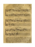 Score of Dissertations on Different Methods of Accompaniment for Harpsichord, Book Two Giclee Print by Jean-Philippe Rameau