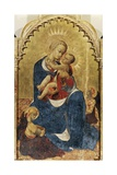 Madonna and Child, Central Panel of Altarpiece of St Dominic of Cortona, Ca 1434 Giclée-tryk af , Sassetta