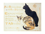 Exposition a La Bodiniere..., Poster Advertising an Exhibition of New Work, 1894 Reproduction procédé giclée par Théophile Alexandre Steinlen