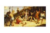 Martyrdom of St Stephen, Division of Martinengo Altarpiece Giclee Print by Lorenzo Lotto
