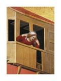 Woman Leaning over Balcony Giclée-Druck von Simone Martini