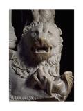 Lion Figure, Detail of Tomb of Catherine of Austria, 1323 Ca Giclée-Druck von Tino da Camaino