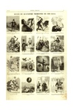 Review of the Fourth Quarter of 1856, from the 'Journal Amusant', 17 January 1857 Giclee Print by Nadar