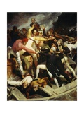 Nelson During the Battle of Cadiz with a Spear, Spain, July 3, 1797 Giclee Print by Richard Westall