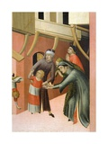 Altarpiece Entitled Blessed Agostino Novello and Stories of His Life Giclée-Druck von Simone Martini