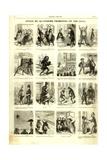 Review of the Fourth Quarter of 1856, from the 'Journal Amusant', 17 January 1857 Giclee-trykk av Nadar
