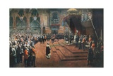 State Visit of Queen Victoria to the Glasgow International Exhibition, 22 August 1888 Giclée-tryk af Sir John Lavery