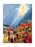 Constantine's Vision of the Christian Cross before the Battle of the Milvian Bridge Giclee Print by Roger Payne