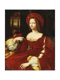 Portrait of Giovanna of Aragon, Seated Three-Quarter Length, in Her Chamber Lámina giclée por  Raphael