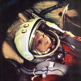 Yuri Gagarin in the Cabin of 'Vostok' Photographic Print