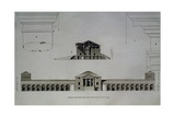 Drawing and Section of Villa Emo Capodilista, Near Padua Giclee Print