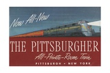 The Pittsburgher', Advertisement for the Pennsylvania Railroad Company, C.1948 Giclée-Druck