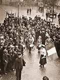 The Women's Social and Political Union Fife and Drum Band Out for the First Time, 13th May 1909 Photographic Print