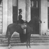 Augusta Crofton Riding Sidesaddle on Her Horse Champion  Ready for the Hunt  1860