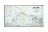 Map of West Arctic America Showing the Tracks of HMS Enterprise and Investigator in 1850-1854 Giclee-trykk