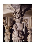 Pulpit of the Cathedral of Pisa Giclée-tryk af Giovanni Pisano