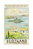 Scotland, Kishmul Castle Isle of Barra, Poster Advertising British Railways, 1952 Reproduction procédé giclée
