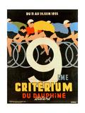 Advertisement for the 9th 'Criterium Du Dauphine Libere' Cycling Race of 1955 Reproduction procédé giclée