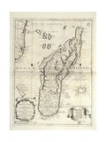 Map of Madagascar Island Giclée-tryk af Vincenzo Coronelli