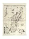 Map of Madagascar Island Lámina giclée por Vincenzo Coronelli