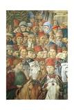 The Cavalcade of the Magi Giclée-tryk af Benozzo Gozzoli