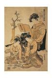 The Courtesan Michinoku from the Green House Giclee Print by Isoda Koryusai