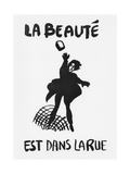 Beauty Is in the Street', Poster from the Student Revolt in Paris, May 1968 Stampa giclée