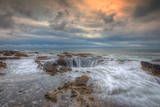 Standing at Thor's Well, Oregon Coast Photographic Print by Vincent James