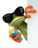 Frog Drink Plakater