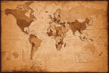 Weltkarte - Antik Posters