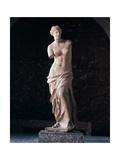 "Marble Statue of Aphrodite of Milos known as ""Venus De Milo"". from Island of Milos Giclée-tryk"