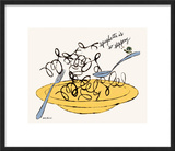 Spaghetti is So Slippery, c. 1958 Framed Giclee Print by Andy Warhol
