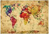 Vintage, verdenskart Plakater