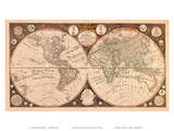 A New Map of the World - with all the New Discoveries by Capt. Cook and Other Navigators Prints by Thomas Kitchin