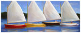 Colored Catboats Prints by Carol Saxe