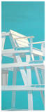 Life Guard Stand (turquoise) Poster by Carol Saxe