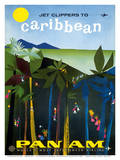 Jet Clippers to Caribbean - Pan American World Airways Posters av Aaron Fine