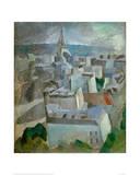 """Study for """"The City Paris"""", 1909 Reproduction procédé giclée par Robert Delaunay"""