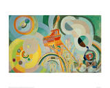 Study for Air, Iron, Water, 1936/1937 Giclee Print by Robert Delaunay